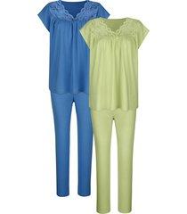 pyjama's per 2 stuks harmony pistache::blauw