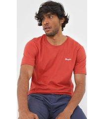 camiseta wrangler bordada vermelha - kanui