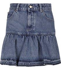 red valentino 5 pockets denim shorts