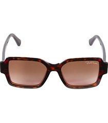 54mm faux tortoiseshell square sunglasses