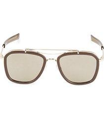 54mm browline squared aviator sunglasses