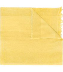 fabiana filippi lightweight plain scarf - yellow