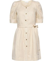 sim korte jurk crème fall winter spring summer