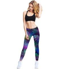 legginsy fitness colorfull tropic