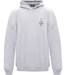 paris olympics embroidered logo hoodie