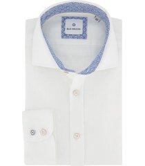 blue industry overhemd linnen wit