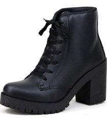bota coturno clube do sapato de franca buenos aires preto