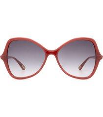 chloé chloé ch0001s orange sunglasses