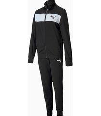 polyester trainingspak, zwart/aucun, maat 128 | puma