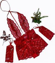 body rendado lacradora ãgua viva lingerie sem bojo vermelho - vermelho - feminino - renda - dafiti