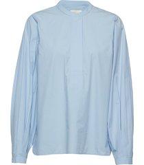 kata ls blouse overhemd met lange mouwen blauw second female