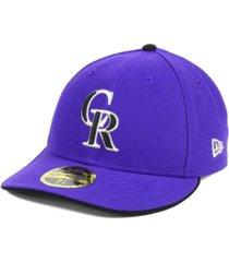 new era colorado rockies low profile ac performance 59fifty cap