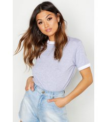 basic ringer t-shirt, grijs