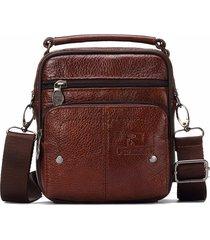 borsa da viaggio a tracolla per uomo in vera pelle vintage messenger bag