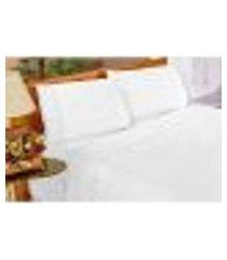 jogo de cama solteiro 3 peças imperial branco