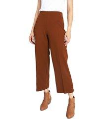 pantalón privilege marrón - calce holgado