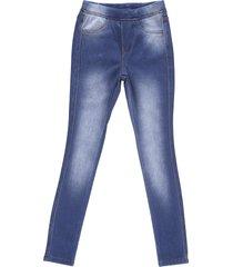 calã§a feminina crawling jegging jeans moletom - azul - menina - dafiti