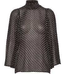 leiaiw blouse blouse lange mouwen zwart inwear