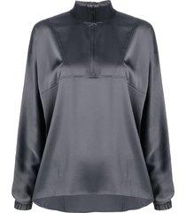 filippa k soft sport reversible draped track shirt - grey
