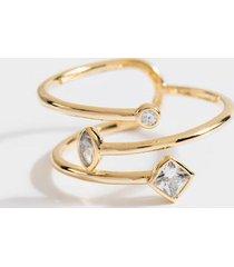 alda twisted cz ring - gold