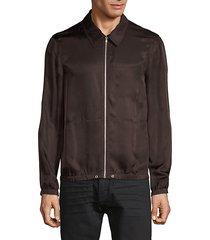 zip-up shirt jacket