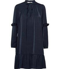 recycle polyester dress ls korte jurk blauw rosemunde