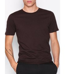 selected homme slhtheperfect mel ss o-neck tee b n t-shirts & linnen mörk lila