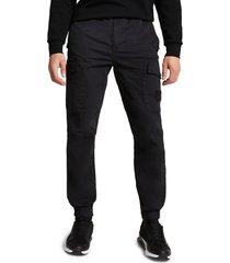 men's river island cargo pants, size 32 x 32 - black