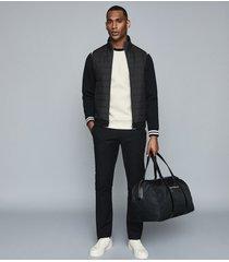 reiss ashburton - colour block neoprene sweatshirt in grey, mens, size xxl