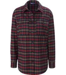 geruite blouse met lange mouwen van day.like multicolour