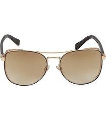 jimmy choo women's 58mm aviator sunglasses - gold
