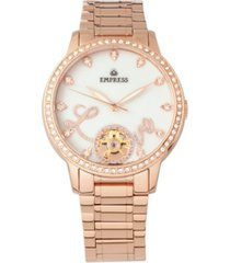 empress quinn automatic rose gold stainless steel watch 41mm