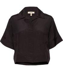 mackenzie blouses short-sleeved zwart whyred