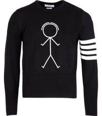 mr. thom icon crewneck sweater black