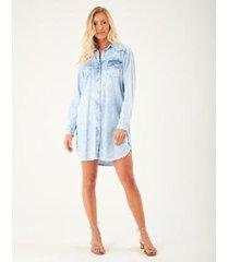 vestido zinzane jeans chemise feminino - feminino