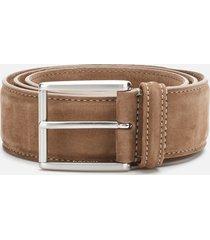 anderson's men's matt silver suede belt - beige - w36/xl