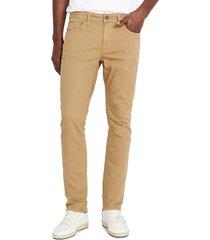 buffalo david bitton men's ash-x slim jeans - tan - size 31 34