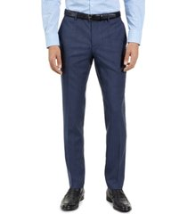 hugo hugo boss men's slim-fit blue check suit pants, created for macy's