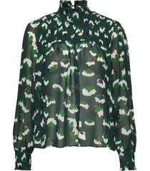 aline blouse blouse lange mouwen groen twist & tango
