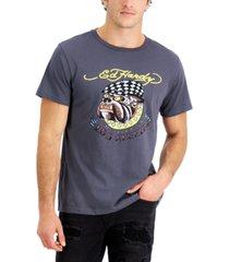 ed hardy men's retro bulldog logo graphic t-shirt