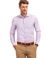 camisa manga larga business seattle morado ferouch
