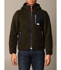 fay jacket fay classic fleece sweatshirt with hood and zip