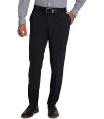 haggar men's the active series uptown slim-fit solid dress pants