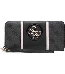 open road slg large zip around bags card holders & wallets wallets grå guess