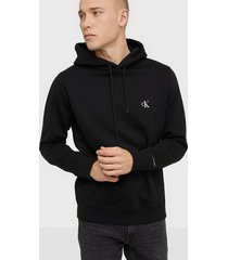 calvin klein jeans ck essential regular hoodie tröjor black
