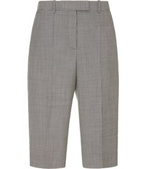 checked wool bermuda shorts