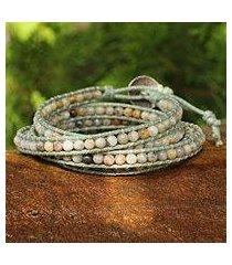 jasper wrap bracelet, 'surin summer' (thailand)