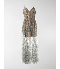 self-portrait sequin embroidered dress