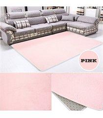 eh alfombra de lana de color rosa salón dormitorio-rosa