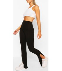 basic leggings met split, zwart